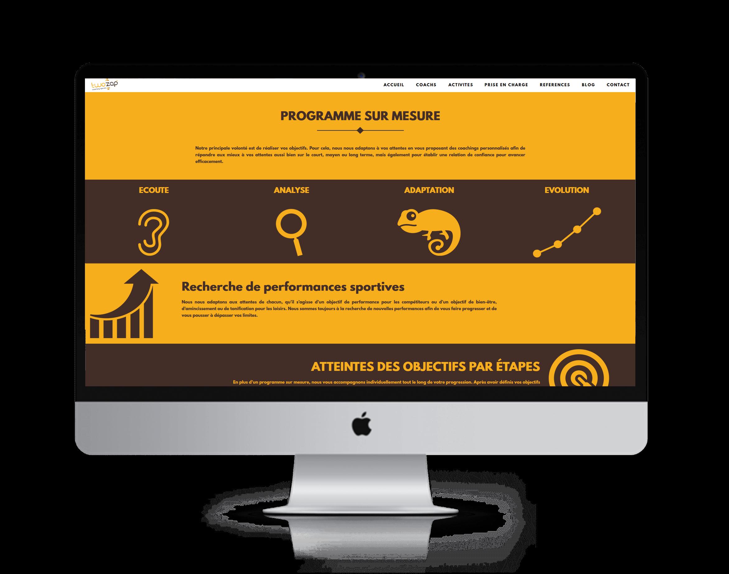 twozap site internet coach sportif